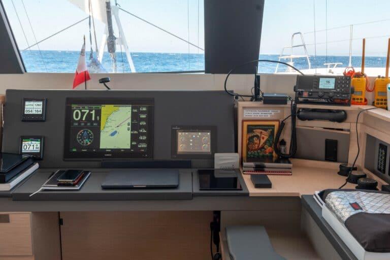 Luxury Catamaran Serenissima cockpit