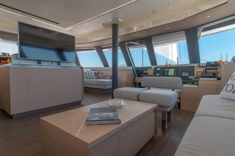 Luxury Catamaran Serenissima lounge