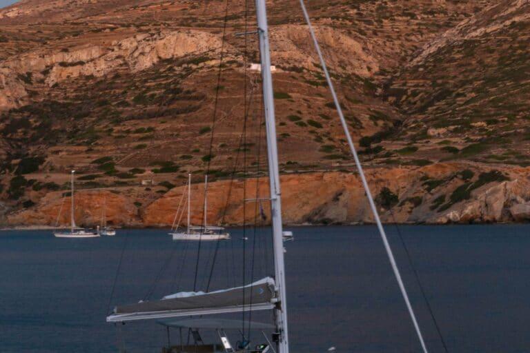 Luxury Catamaran Serenissima in the evening
