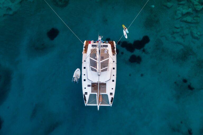 Luxury Catamaran Serenissima bird view