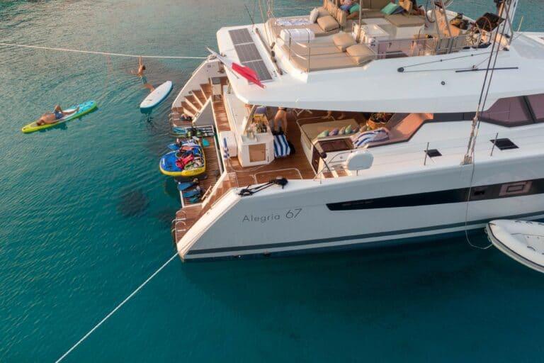 Luxury Catamaran Serenissima aft deck