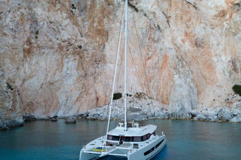 Luxury Catamaran Serenissima front view