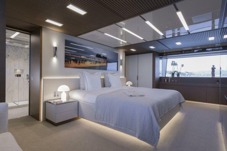 Master Cabin San Lorenzo 52M SEVEN SINS luxury charter Med or Carib