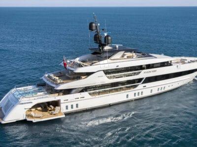 Luxury Yacht Seven Sins II at anchor