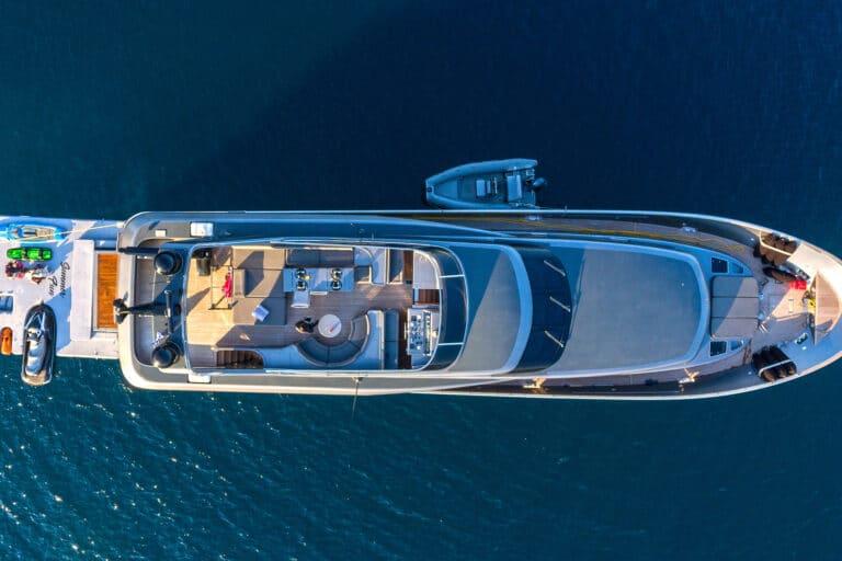 Luxury Motor Yacht SUMMER FUN from above