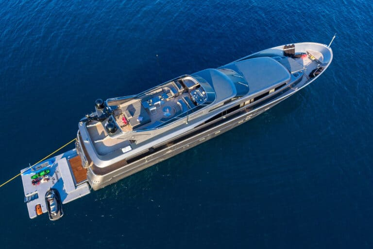 Luxury Motor Yacht SUMMER FUN at anchor
