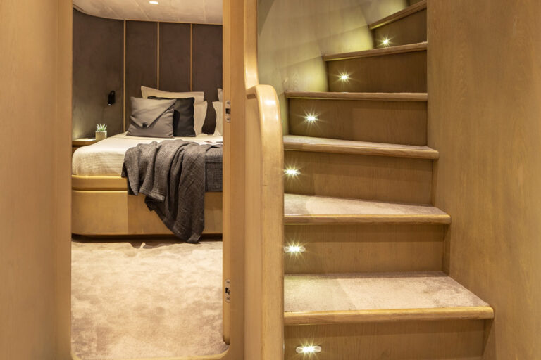Luxury Motor Yacht SUMMER FUN stairway