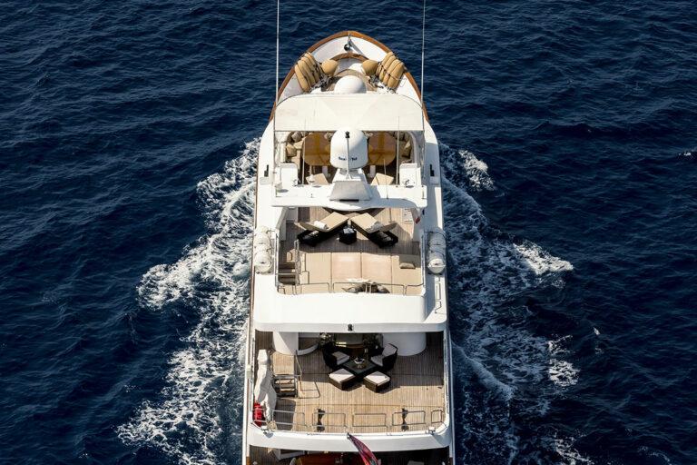 Luxury Motor Yacht SUPERFUN Aft Deck