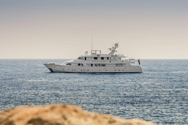 Luxury Motor Yacht SUPERFUN At anchor
