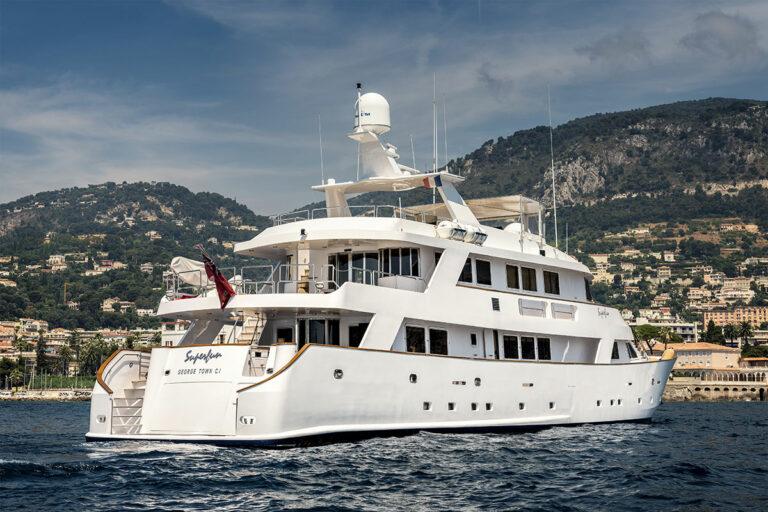 Luxury Motor Yacht SUPERFUN back