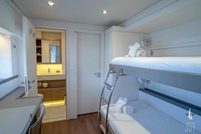 Sailing Yacht JOY - Lagoon 77 - Bunk Cabin