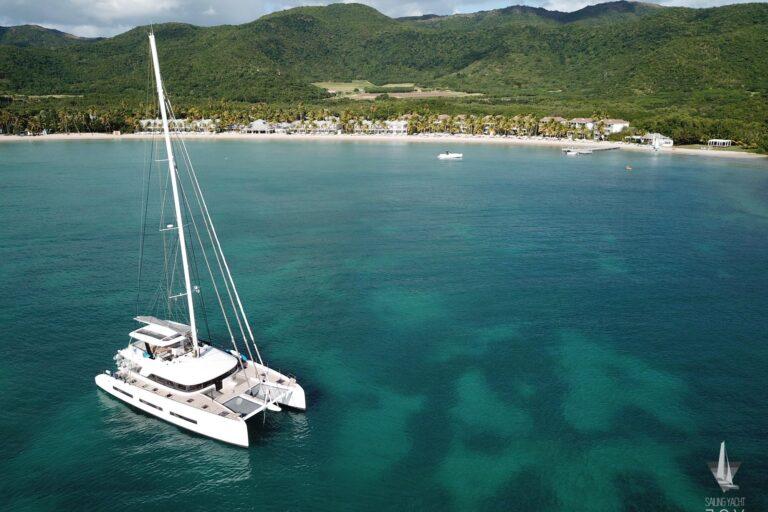 Sailing Yacht JOY - Lagoon 77 - Bird view