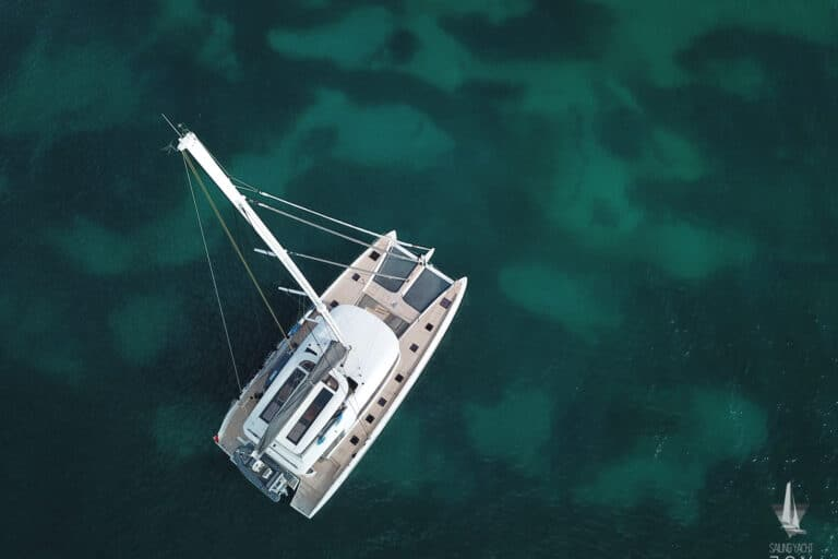 Sailing Yacht JOY - Lagoon 77 - From above