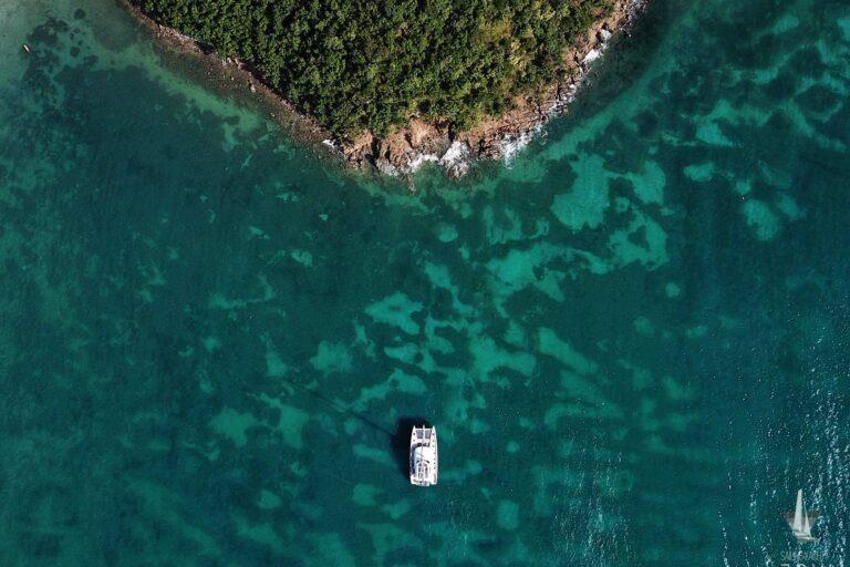 Sailing Yacht JOY - Lagoon 77 - Drone shot