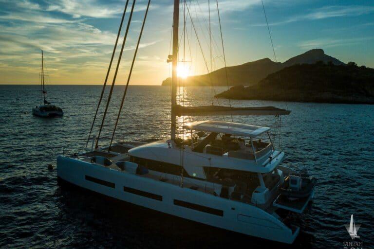 Sailing Yacht JOY - Lagoon 77 - Sunset