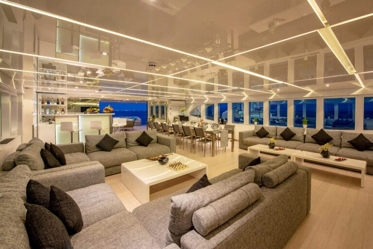 Luxury Motor Yacht SEAREX saloon