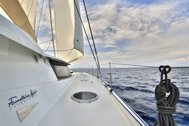 Luxury Catamaran WORLD'S END side