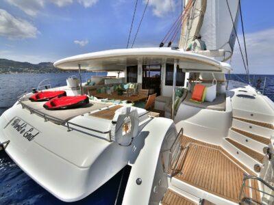 Luxury Catamaran WORLD'S END aft deck