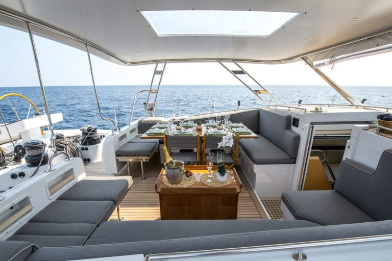 Sailing Yacht LADY 8 - Cockpit from starboard