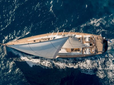 Sailing Yacht GRAND BLEU VINTAGE - from above