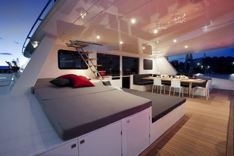 Luxury Catamaran LEVANTE - Aft deck