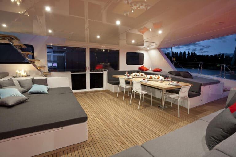 Luxury Catamaran LEVANTE - Al fresco dining