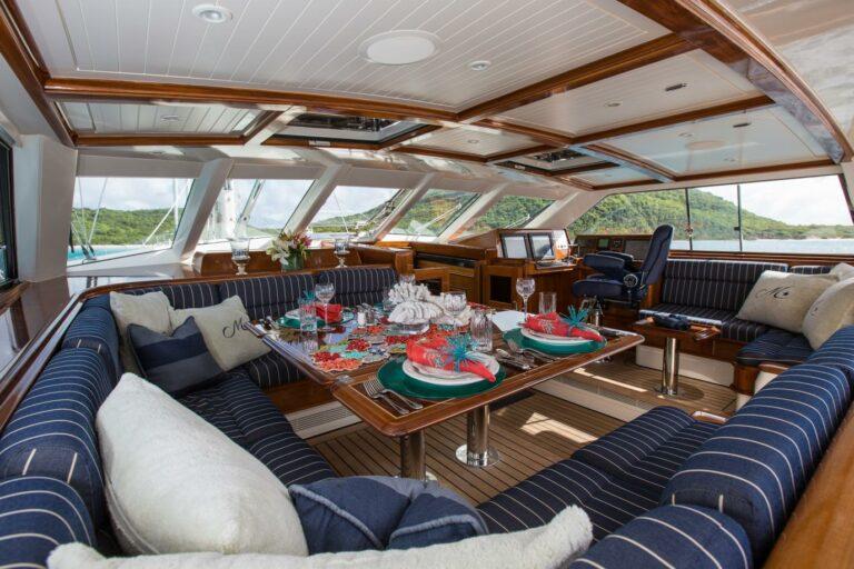 Luxury Sailing Yacht MARAE - Al fresco dining