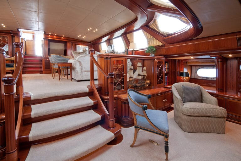 Luxury Sailing Yacht HYPERION - Main Saloon