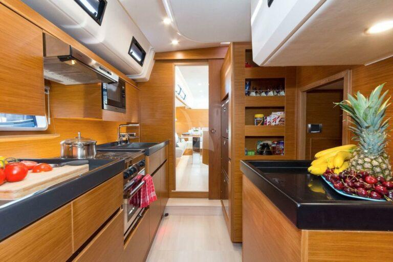 Luxury Sailing Yacht NADAMAS Galley