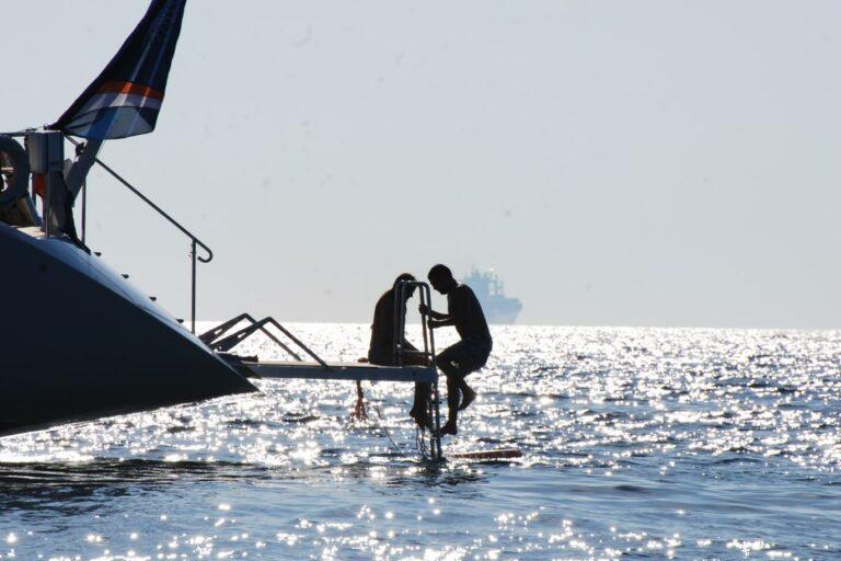 Luxury Sailing Yacht HYPERION - Swimming Platform