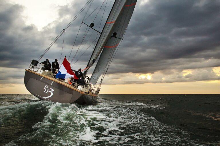 Sailing Yacht PH3 participating in regatta