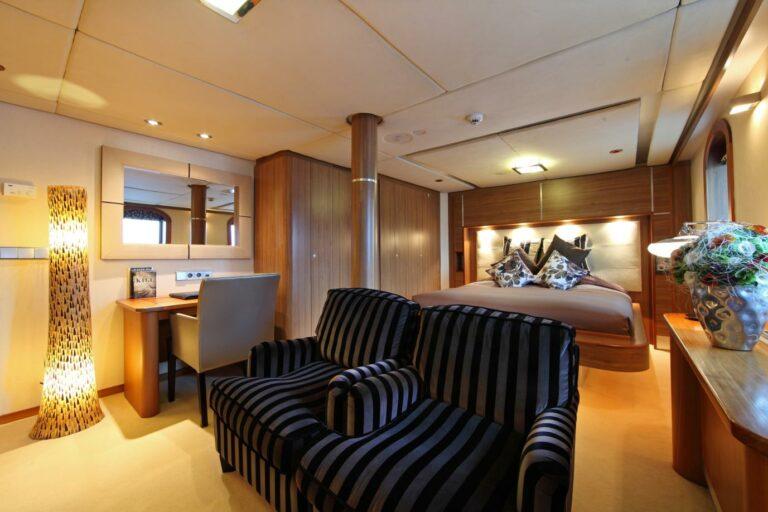 VIP Cabin on board SHERAKHAN charter yacht for sale