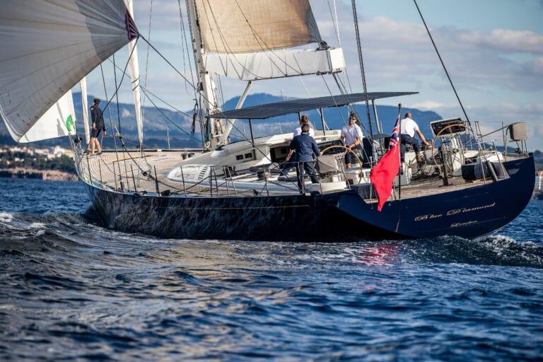 Luxury Yacht Blue Diamond Rear side