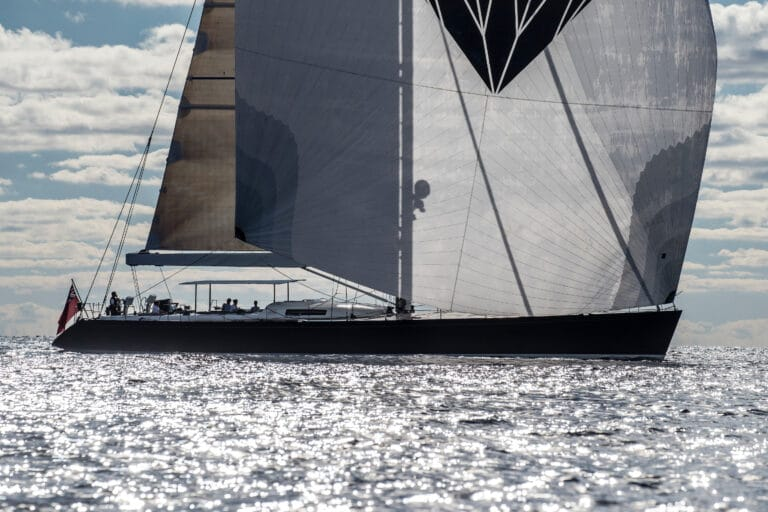 Luxury Yacht Blue Diamond Side