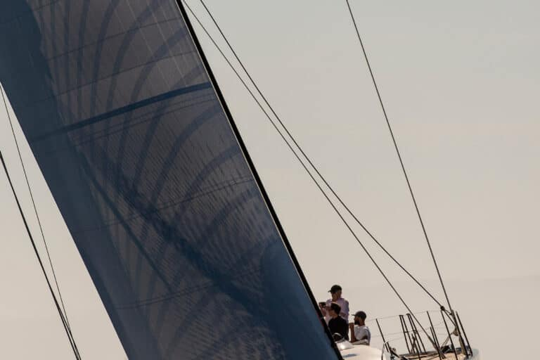 Luxury Yacht Blue Diamond Front
