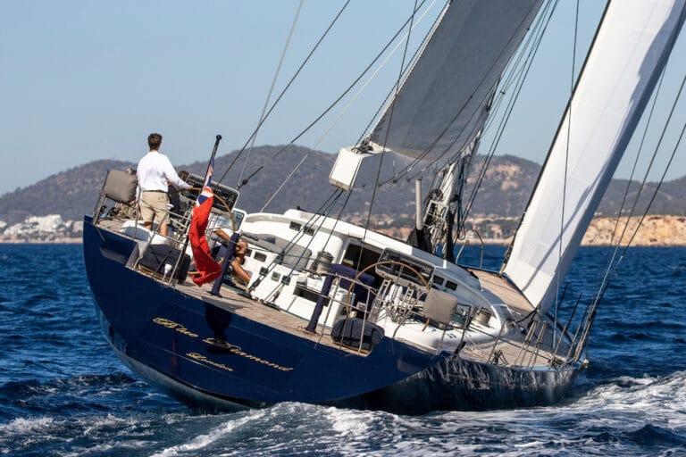 Luxury Yacht Blue Diamond Rear Deck