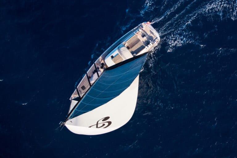 Luxury Yacht Allegro - Sailing bird view