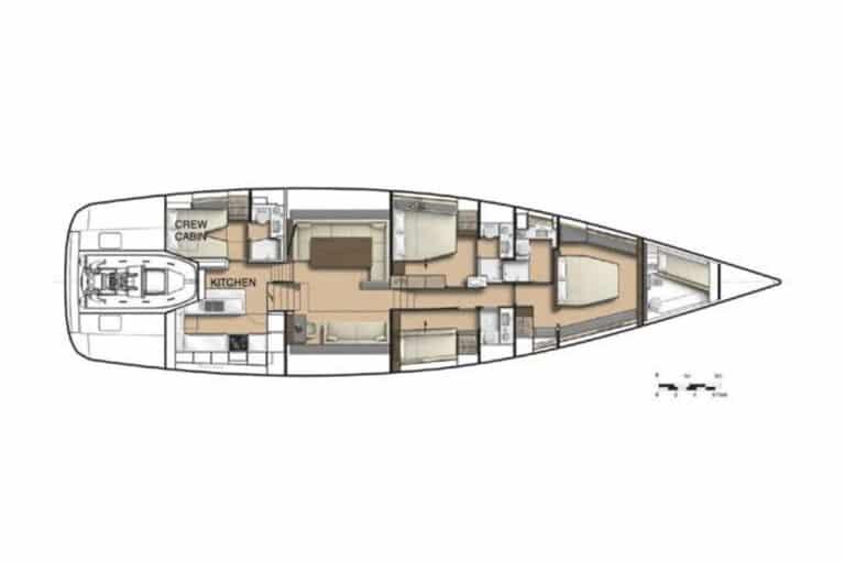 Luxury Yacht Allegro - Layout