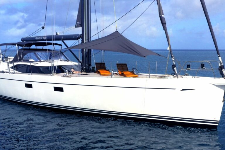 Champagne Hippy Luxury Sailing Yacht - At Anchor
