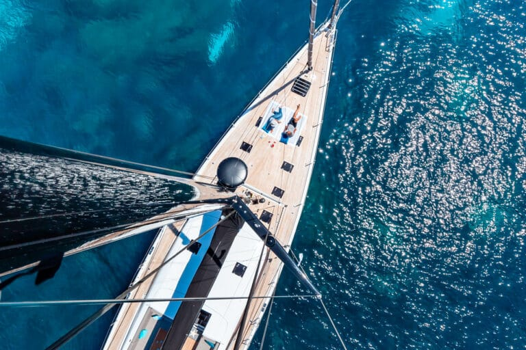 Spark - Luxury Sailing yacht - Bird view
