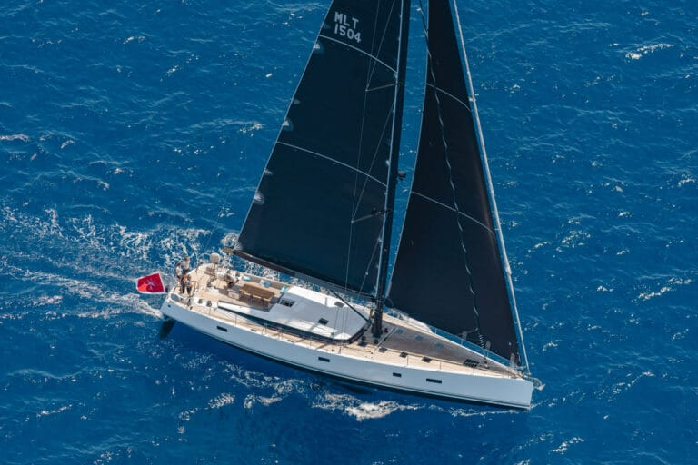 Spark - Luxury Sailing yacht - Sailing Drone view
