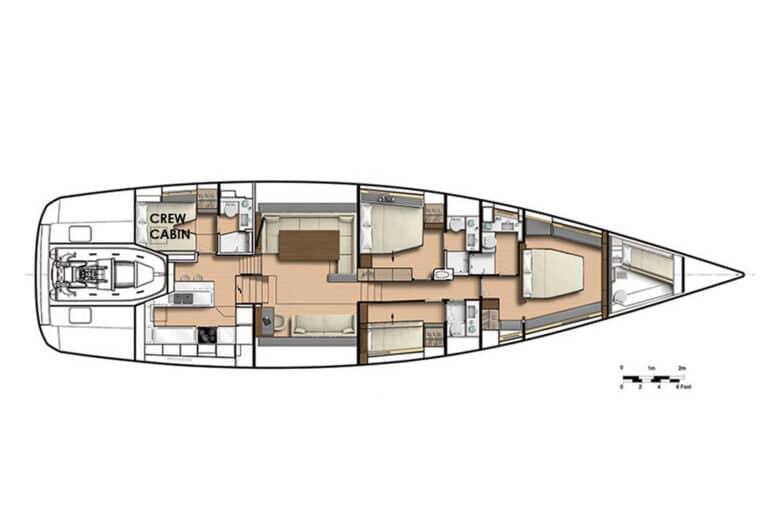 Spark - Luxury Sailing yacht - Layout