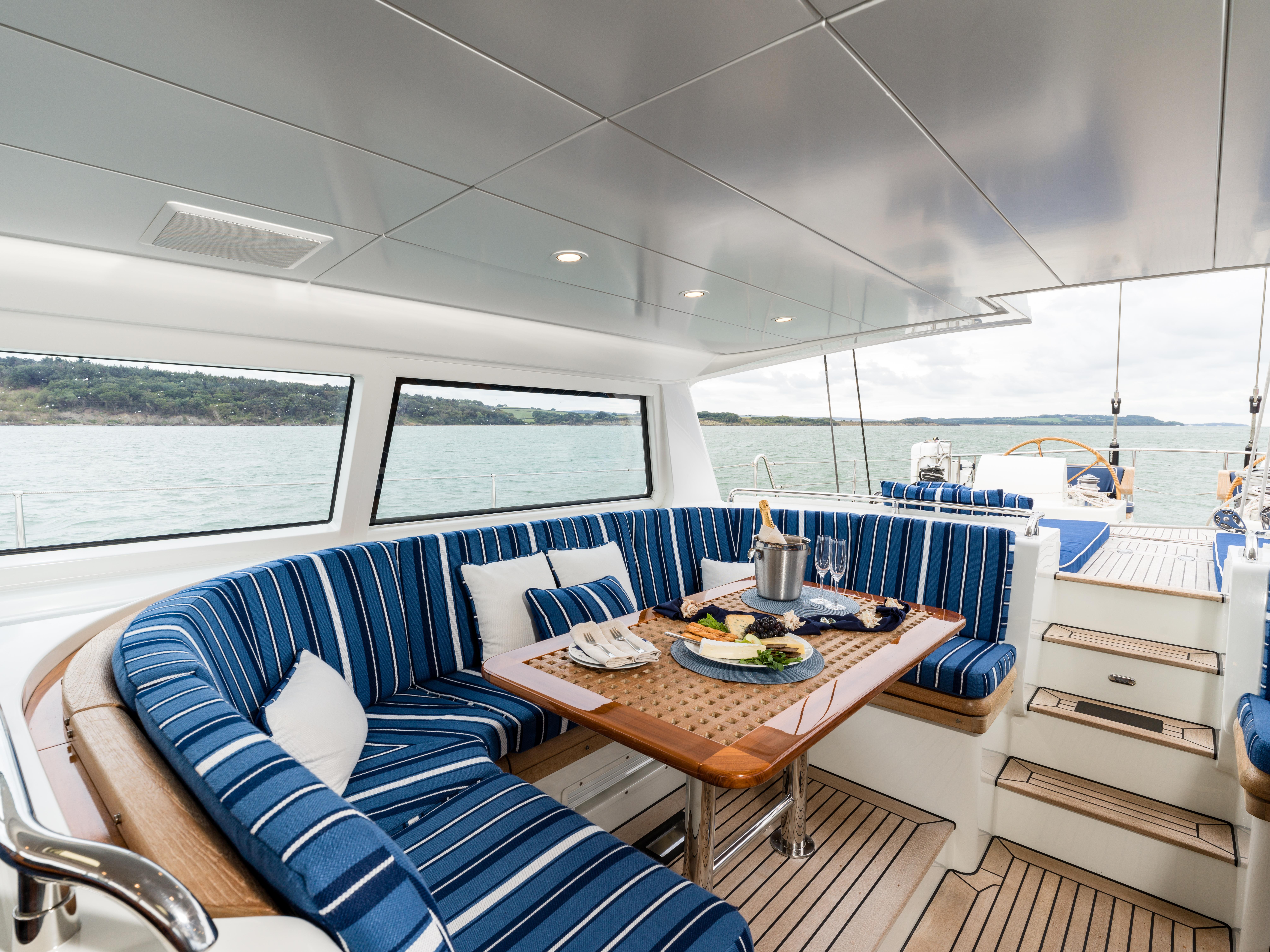 Vivid Jongert Sailing Yacht - Al Fresco Dining