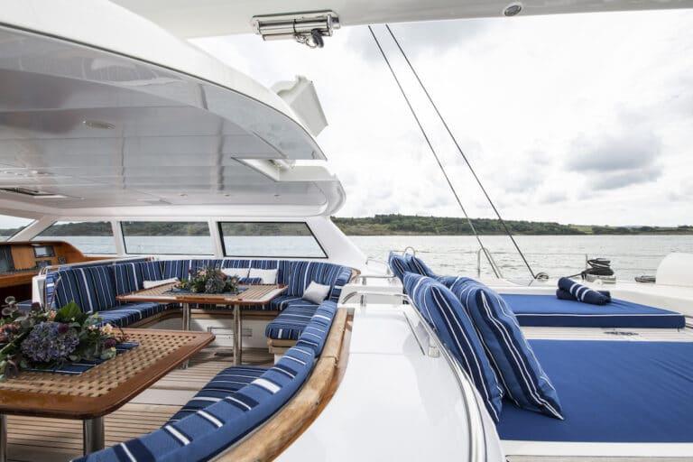 Vivid Jongert Sailing Yacht - Aft Deck