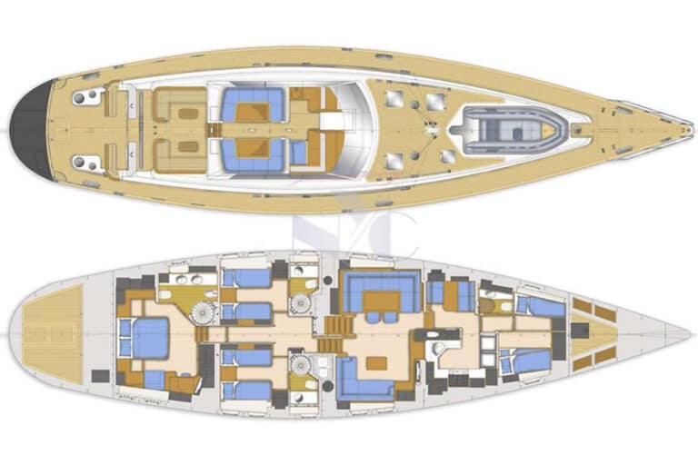 Vivid Jongert Sailing Yacht - Layout